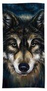 Wolf Head Bath Towel