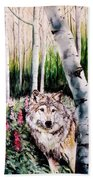 Wolf In Woods Hand Towel
