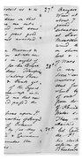 Wolfe Journal, 1759 Hand Towel