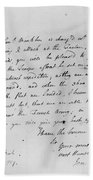 Wolfe Letter, 1759 Hand Towel