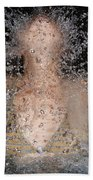 Woman Splashing Water Bath Towel