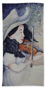 Woman's Autumnal Twilight Serenade Bath Towel