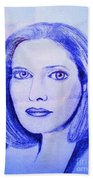 Womans Portrait  Bath Towel