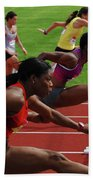 Womens Hurdles 3 Bath Towel