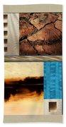 Wood And Stone Rectangular Textures Bath Towel