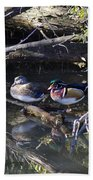 Wood Duck Reflections Hand Towel