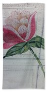 Wood Flower Bath Towel