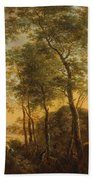 Wooded Hillside With A Vista Hand Towel