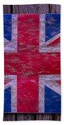 Wooden British Flag Bath Towel