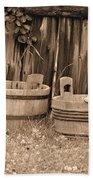Wooden Buckets Bath Towel
