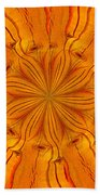 Wooden Flower Bath Towel