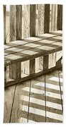 Wooden Lines - Semi Abstract Bath Towel