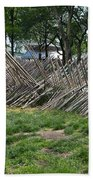 Wooden Spiked Fence Bath Towel