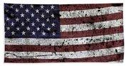Wooden Textured U. S. A. Flag Bath Towel