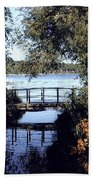 Woodfoot Bridge Of Williams Bay Wi Over Geneva Lake  Bath Towel