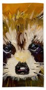 Woodland Racoon Bath Towel