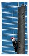 Woodpecker Column Bath Towel