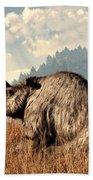 Woolly Rhino And A Marmot Bath Towel