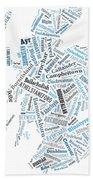 Wordcloud Of Scotland Bath Towel