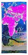 World Map And Aphrodite Bath Towel