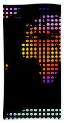 World Map Colourful Dots #2 Bath Towel