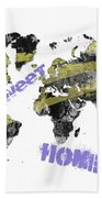 World Map Cool Bath Towel