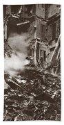 World War I Paris Bombed Bath Towel