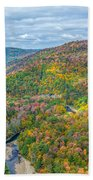 Worlds End State Park Lookout Bath Towel