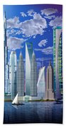 Worlds Tallest Buildings Hand Towel
