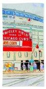Wrigley Field Sketch Bath Towel