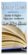 Write It Right - Tips For Authors - The Big Book Bath Towel