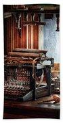Writer - Typewriter - The Aspiring Writer Bath Towel