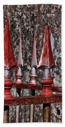 Wrought Iron Fence Spears Bath Towel