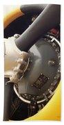 Ww II Airplane Engine Bath Towel