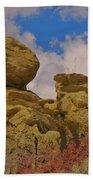 Wyoming Badlands Rock Detail Two Bath Towel
