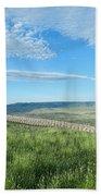 Wyoming Snow Fence Bath Towel