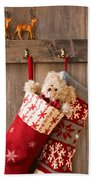 Xmas Stockings Hand Towel