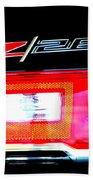 Xxl Chevrolet 2014 Z28 Tail Light Bath Towel