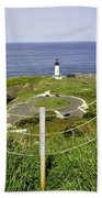 Yaquina Lighthouse From Salal Hill Trail  Bath Towel
