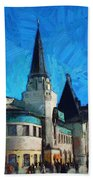Yaroslavsky Railway Station Bath Towel