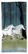 Year Of The Wood Horse Bath Towel