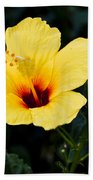 Yellow And Red Hibiscus Bath Towel