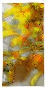 Yellow Autumn Bath Towel
