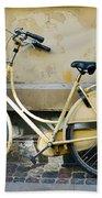 Yellow Bicycle In Copenhagen Bath Towel