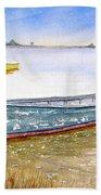 Yellow Boat II Bath Towel