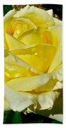 Yellow Bob Berry Rose Bath Towel