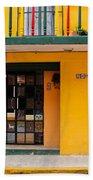 Yellow Buidling Mexico Bath Towel