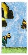 Yellow Butterflies - Spring Art By Sharon Cummings Hand Towel