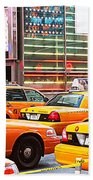 Yellow Cabs Bath Towel