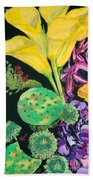 Yellow Cala Lilies Bath Towel